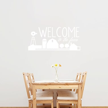 SweetumsWallDecals Welcome to the Farm Wall Decal; White