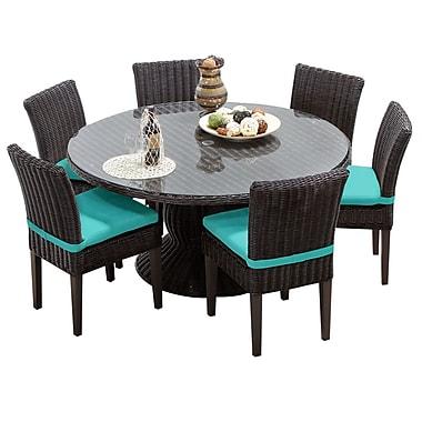 TK Classics Venice 7 Piece Dining Set w/ Cushions; Aruba