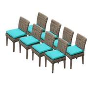 TK Classics Cape Cod Dining Side Chair w/ Cushion (Set of 8) (Set of 8); Navy