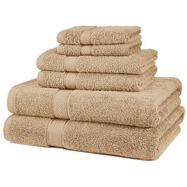 Casual Elegance – Ensemble de serviettes en 6 pièces à 100 % en coton égyptien au séchage rapide, saumon
