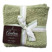 "Andrea Collection 100% Cotton Washcloth in Assorted Colours, 12"" x 12"", 6/Pack"