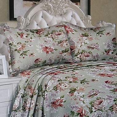 Couture – Ensemble de drap microfibre profond série 850 de luxe, imprimé floral, grand lit