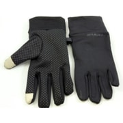 iTouch Microfiber Touchscreen Gloves with Grip Dots, One Size Fits All, Black