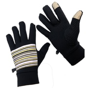 iTouch Touchscreen Gloves with Grip Dots, One Size Fits All, Stripe Design