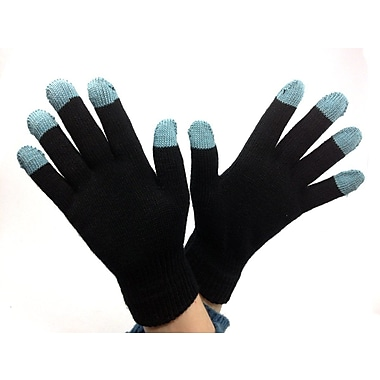 iTouch – Gants pour écran tactile pour femmes, taille universelle, modèle aux extrémités turquoise