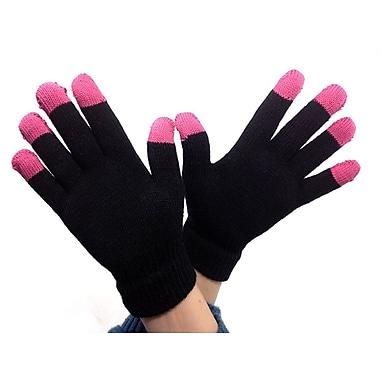 iTouch – Gants pour écran tactile pour femmes, taille universelle, modèle aux extrémités mauves