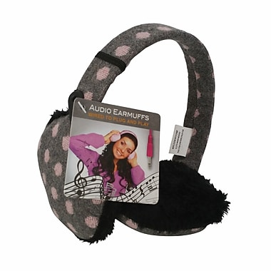 Chatties Earmuffs with Built-in Headphones, Pokadot
