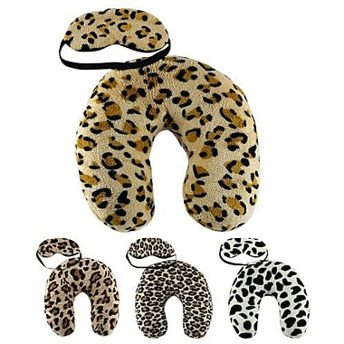 Bio Swiss Neck Travel Pillows and Eye Mask, Cheetah Print