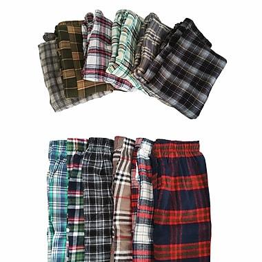 Schonfeld – Pantalon de pyjama en coton écossais à 100 % doux, petit, couleurs variées, paq./5