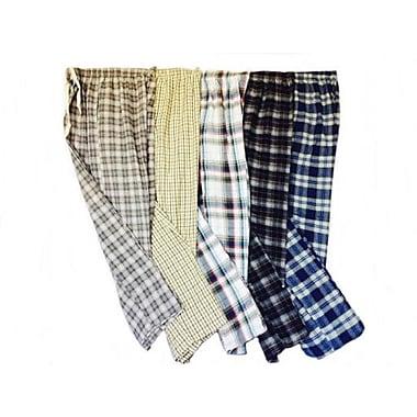 Schonfeld – Pantalons de détente pour hommes en coton peigné à 100 %, petit, couleurs variées, 3/pqt
