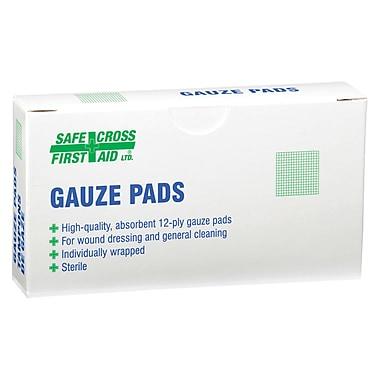 Safecross – Compresses de gaze, 4 x 4 (po), Stérile, 192/paquet (3764)
