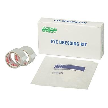 Safecross – Trousse de pansements oculaires avec 2 tampons oculaires et 2 rubans, 3/4 x 1 (po), 24/paquet (2534)