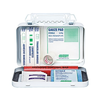 Safecross First Aid Kit Manitoba, Personal, 10 U+Metal, 3/Pack (50322)