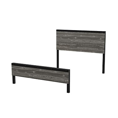 Amisco Winkler Full Size Wood and Metal Headboard and Footboard, 54