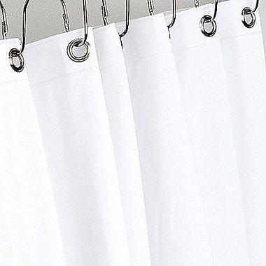 Schonfeld Vinyl Shower Curtain Liner, Extra Heavy, White