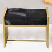 Fashion N You Leather Bedroom Bench; Black