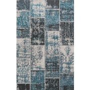 Simple Luxury Superior Brighton Blue Area Rug; 5' x 8'