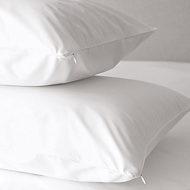 Home Fashion Designs Premium 500 Thread Count Zippered Pillow Protector (Set of 2); Standard