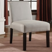 Container Fabric Side Chair (Set of 2); Light Gray