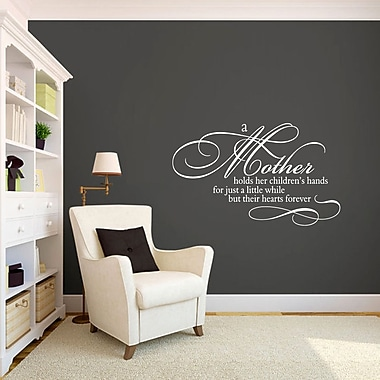 SweetumsWallDecals A Mother Holds Her Children's Hands Wall Decal; White