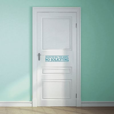 SweetumsWallDecals Unless You Sell Thin Mints No Soliciting Wall Decal; Teal