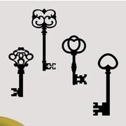 SweetumsWallDecals Skeleton Keys Wall Decal; Black
