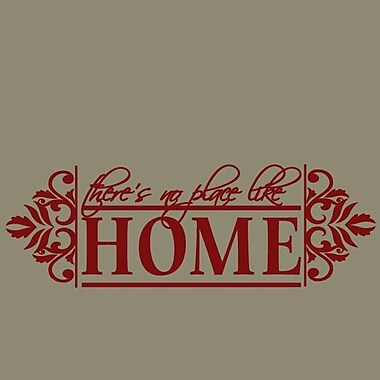 SweetumsWallDecals No Place like Home Wall Decal; Cranberry