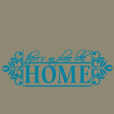 SweetumsWallDecals No Place like Home Wall Decal; Teal