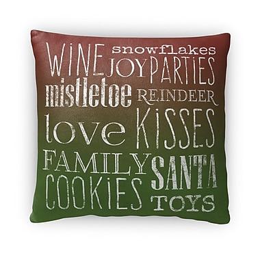 Kavka Wine Il Fleece Throw Pillow