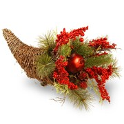 National Tree Co. Holiday Cornucopia Basket