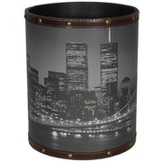 Oriental Furniture Brooklyn Bridge 2.9 Gallon Fabric Trash Can
