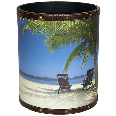 Oriental Furniture Caribbean Beach 2.9 Gallon Waste