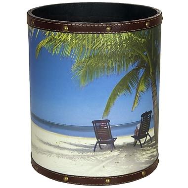 Oriental Furniture Caribbean Beach 2.9 Gallon Fabric Trash Can