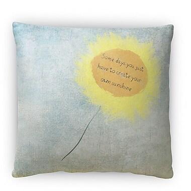 Kavka Sun Flower Fleece Throw Pillow; 16'' H x 16'' W x 4'' D