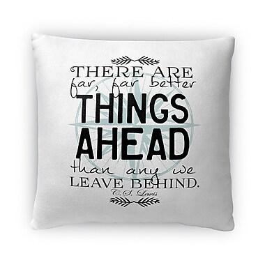 Kavka Things Ahead Fleece Throw Pillow; 18'' H x 18'' W x 4'' D