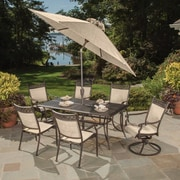 Oakland Living Bali Cast Aluminum and Sling 9 Piece Dining Set