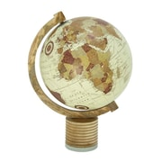 Cole & Grey Wood Metal Marble Globe