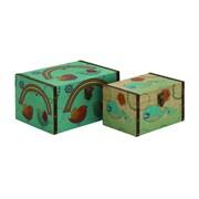 Cole & Grey Wood/Canvas 2 Piece Box Set