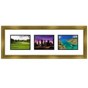 Frames By Mail 3 Opening Collage Picture Frame; Gold