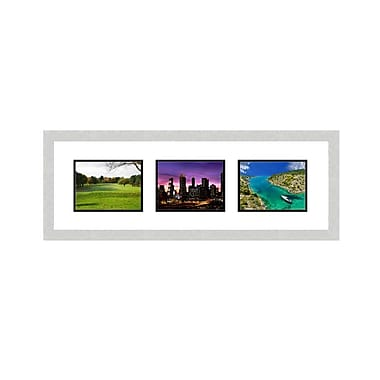 Frames By Mail 3 Opening Collage Picture Frame; Silver