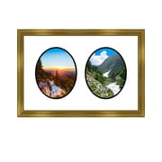 Frames By Mail 2 Opening Picture Frame; Gold