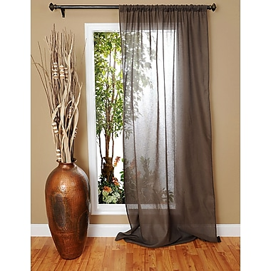 India House Shalin Single Curtain Panel; Gray