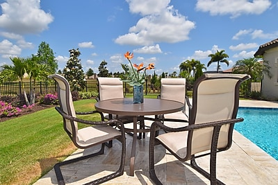 OutdoorMasterpiece Palms 5 Piece Dining Set