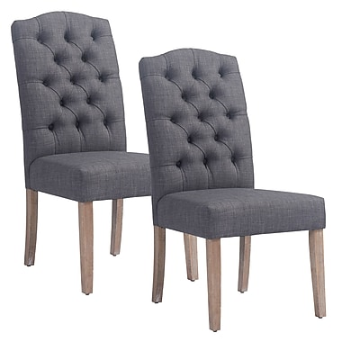 !nspire Side Chair (Set of 2); Gray
