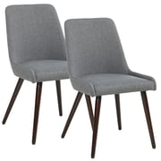 !nspire Side Chair (Set of 2); Dark Gray