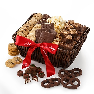 Mrs. Fields® Happy Holiday Basket Edible Gifts 73 Assorted 19