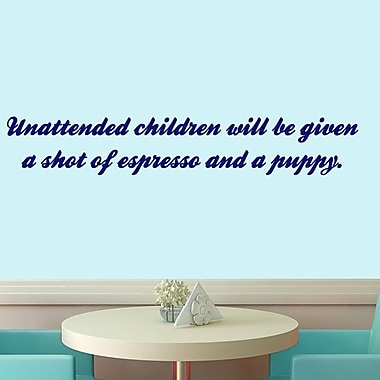 SweetumsWallDecals Unattended Children Wall Decal; Navy