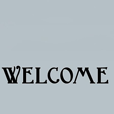 SweetumsWallDecals Welcome Wall Decal; Black