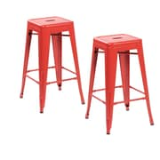 United Chair Industries LLC 26.4'' Bar Stool (Set of 2); Matte Red