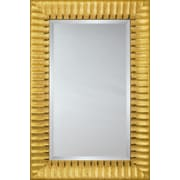 Mirror Image Home Mirror Style - Gold Wave w/ Black Edge Accent; 29 x 41
